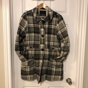 Fox Plaid Winter Coat